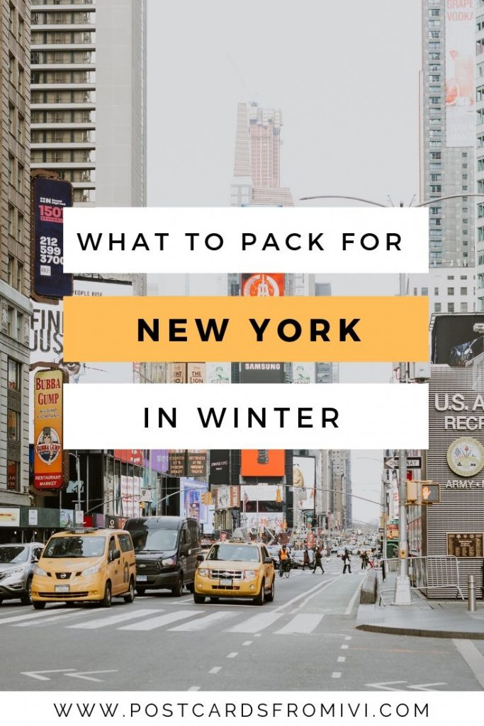 New York winter packing list + downloadable checklist