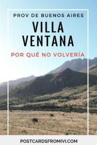 Semana Santa en Villa Ventana y por qué no volvería