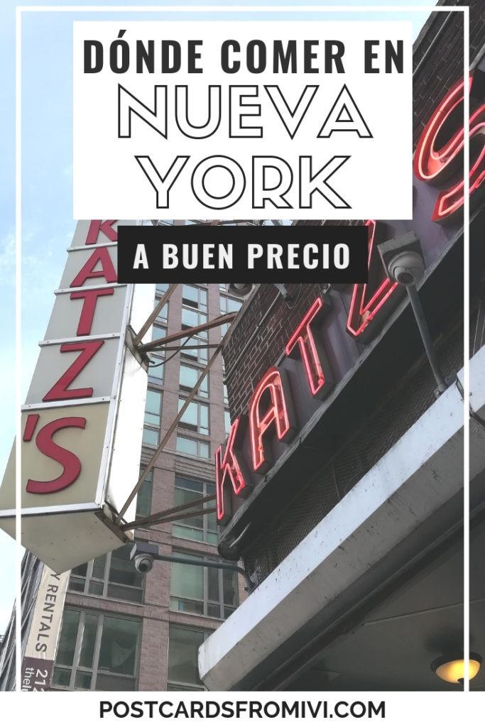 Dónde comer en Nueva York, restaurantes recomendados