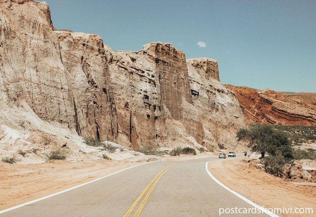 Route from Salta to Cafayate through the Quebrada de las Conchas