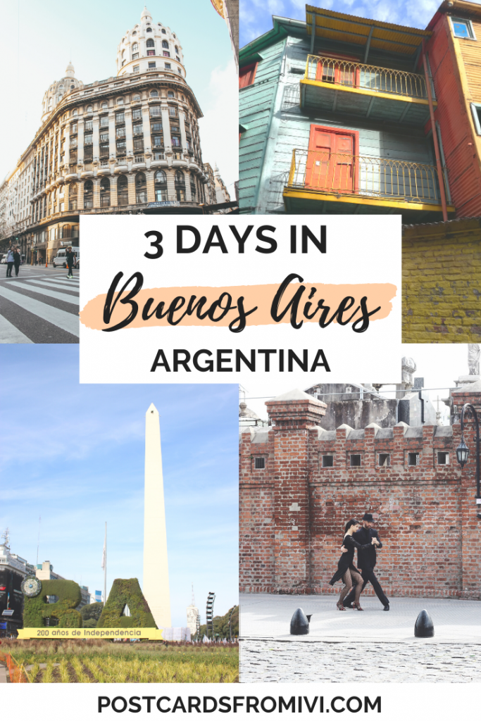 How to spend 3 days in Buenos Aires, complete itinerary