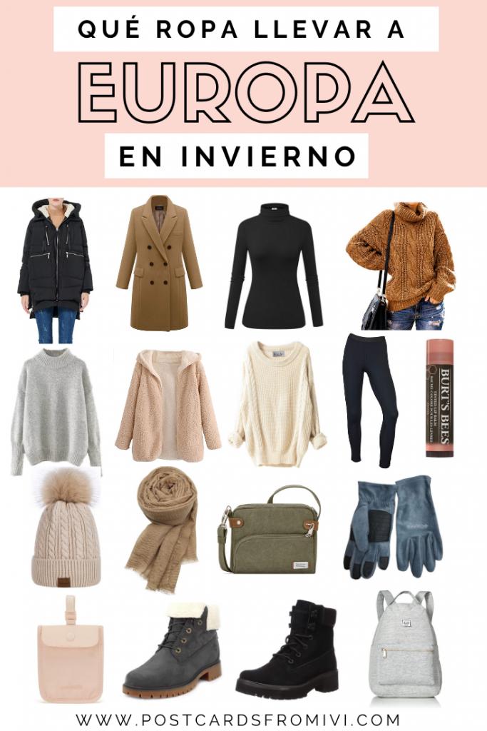 Qué ropa llevar a Europa en invierno