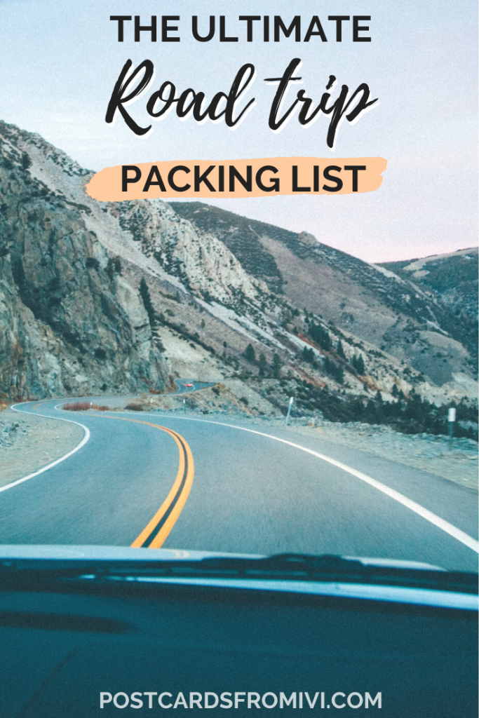 Road trip packing list - things to bring on a road trip
